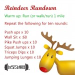 Reindeer Rundown Workout and Minty Protein Smoothie