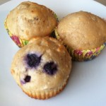 Lemon Blueberry Cottage Cheese Muffins and a Varidesk Review